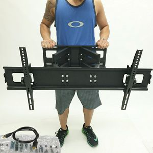 New in box 40 to 85 inches swivel full motion tv television wall mount bracket 110 lbs capacity with hardwares included for Sale in Whittier, CA