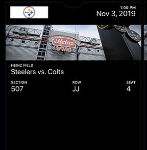 Steelers tickets 11/3 (TWO TICKETS) for Sale in Virginia Beach, VA
