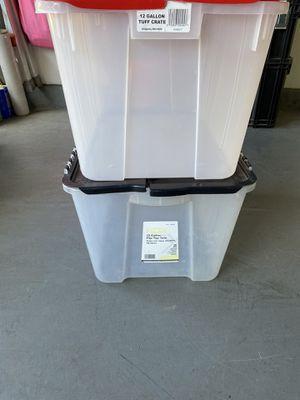 Two 12 Gallon Plastic Storage Containers for Sale in Irvine, CA