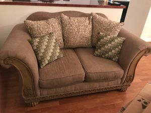 Couches, end table, lamp, and center table for Sale in Modesto, CA