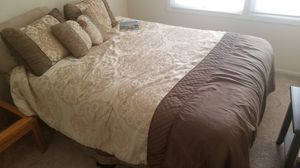Queen size mattress, Box spring, and Bed frame for Sale in Akron, OH