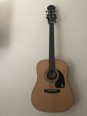Epiphone Acoustic Guitar (Wall Mount Included) for Sale in Oceanside, CA
