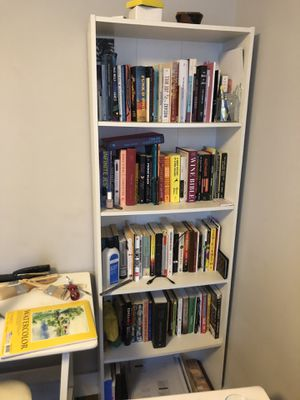 Tall white bookcase for Sale in Brooklyn, NY