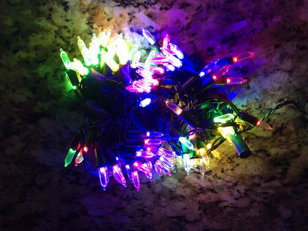 New in box. Sylvania Stay-Lit 100 color changing LED mini Lights $12 each