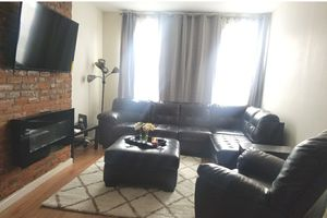 Dark Brown Leather Living Room Set for Sale in Brooklyn, NY