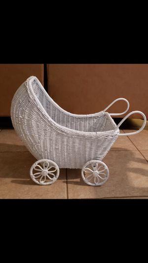 "Wicker antique baby stroller 22"" x 17"" x 10"" for Sale in Port St. Lucie, FL"