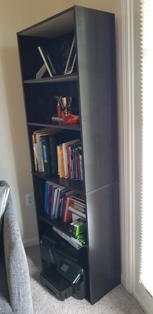 Dark brown bookshelf with adjustable shelves for Sale in Atlanta, GA