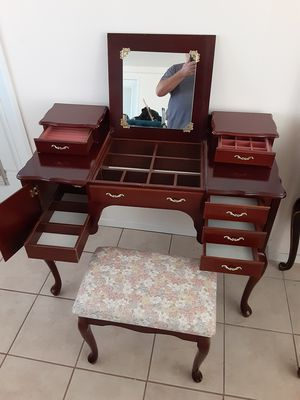 Vanity desk with mirror and chair for Sale in Boulder City, NV