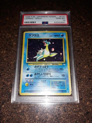 Pokemon Lapras Japanese Mystery of the Fossil PSA10 GEM Mint for Sale in Queens, NY