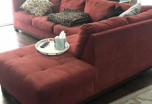 Reddish sectional couch for Sale in Winter Haven, FL