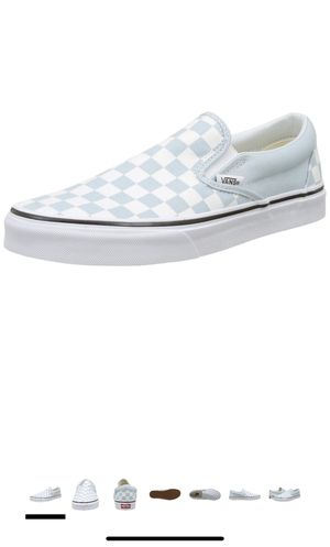 Size 6 women's baby blue checkered vans brand new in box for Sale in Panama City, FL