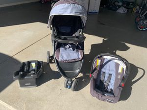 Graco stroller with car seat and base for Sale in Simpsonville, SC