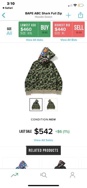 BAPE ABC shark full zip (100%authentic) Let me know your price range we can work something out. for Sale in El Paso, TX