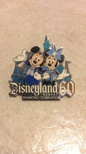 2015 MICKEY & MINNIE MOUSE DISNEYLAND 60TH DIAMOND CELEBRATION DISNEY PIN for Sale in Las Vegas, NV