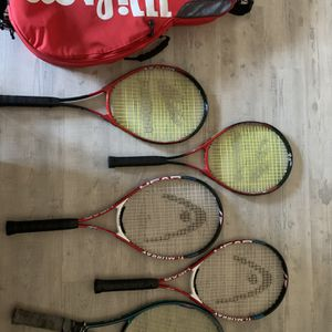 4x Premium Tennis Rackets And Bag for Sale in Phoenix, AZ