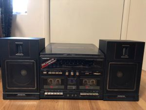 SoundDesign record player, duel cassette, and FM-AM stereo receiver TESTED VINTAGE for Sale in Dallas, TX