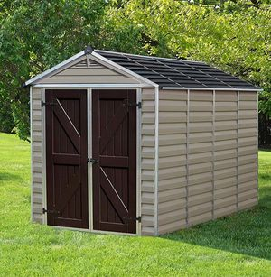 Not a Complete Shed! Box #2 of 2 of Palram Skylight Storage Shed, 6' x 10' Tan. Complete shed retails $800. I don't have the complete shed I don't h for Sale in Norfolk, VA
