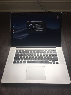 "MacBook Pro 15"" 2.3ghz i7, 16GB ram, 256GB SSD, nvidia 650M (dual graphics), Retina display, new battery, Mac OS Mojave for Sale in Miami, FL"