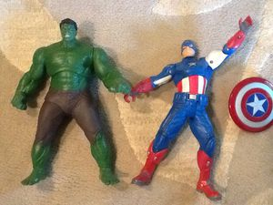 Marvel hulk captain America talking 10' for Sale in Chardon, OH