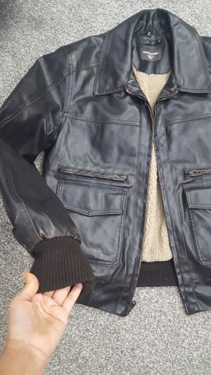 Dockers leather jacket medium size new for Sale in Waukegan, IL