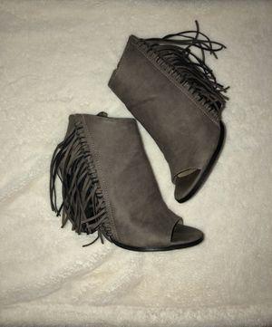 Booties - Gray suede/western booties for Sale in Chandler, AZ