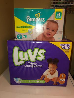 Pampers Size 3 for Sale in Chino, CA