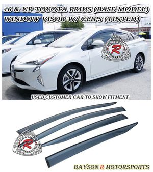 JDM STYLE WINDOW VISORS FOR 2016-2018 TOYOTA PRIUS 4 DR DWV-PRIUS16B for Sale in Fresno, CA