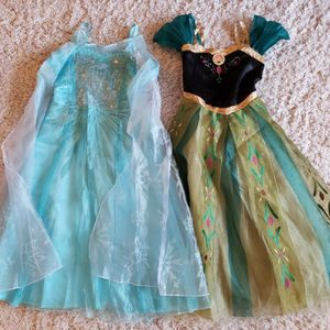 Disney Store: Anna & Elsa Frozen Dresses Size 5/6 for Sale in Aurora, IL