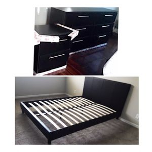 New queen bed frame dresser and nightstand mattress is not included for Sale in Miramar, FL