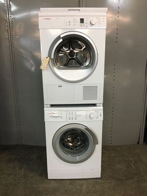 """Bosch 24"""" front loader stackable washer and dryer (ventless) for Sale in Pompano Beach, FL"""