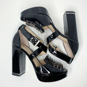 Michael Kors | Lindy Leather Peep Toe Platform 5.5 for Sale in Costa Mesa, CA
