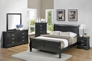 💥HUGE Blowout Furniture Sale!💥 Brand New 5PC Queen Size Black Bedroom Set! $50 Down Takes It Home Today! for Sale in Newport News, VA