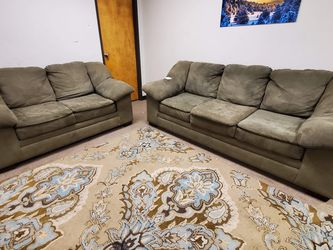 Green Microfiber Couch And Loveseat Set for Sale in Denver,  CO