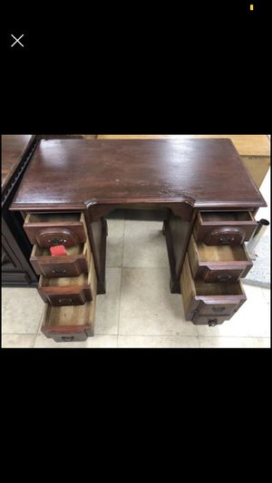 Wood secretary desk for Sale in Fountain Valley, CA