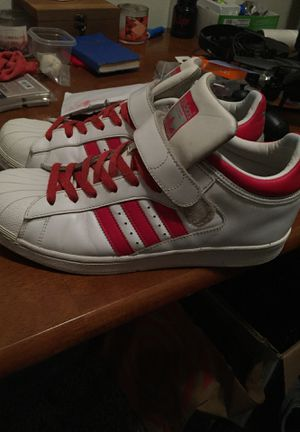 Red and white adidas rare men's shoes size 10 for Sale in Burien, WA