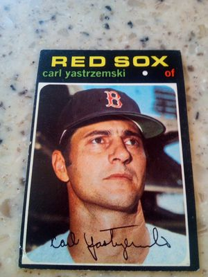 Vintage 1971 Topps baseball card / Carl Yastrzemski/ red Sox/ outfielder/ card # 530 for Sale in Taylor, MI