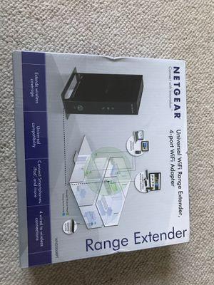 Netgear universal WiFi range extender, 4-port WiFi adaptor for Sale in North Potomac, MD