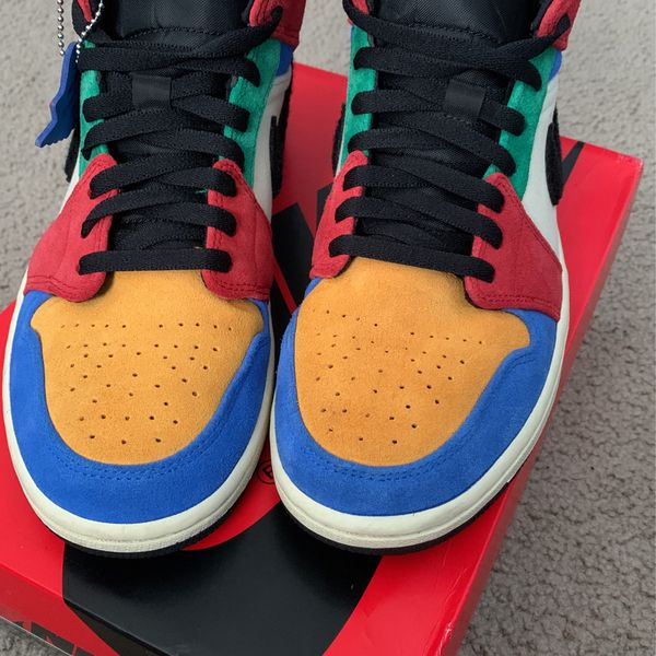 """Air Jordan 1 Mid Fearless """"blue The Great"""" Size 9"""