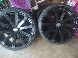 "22"" rims and tires for Sale in Fort Worth, TX"