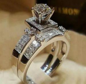 Elegant White Sapphire Wedding Ring Set for Sale in Wichita, KS