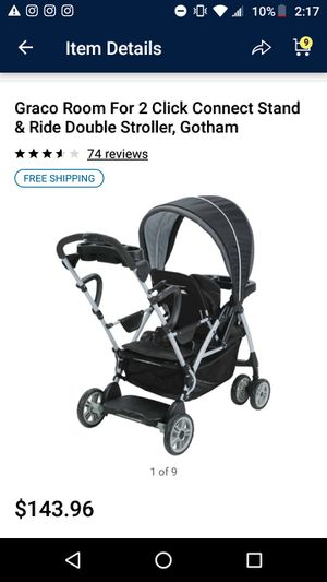 Graco Sit & Stand Double Stroller (USED) -Good Condition for Sale in Bristol, CT