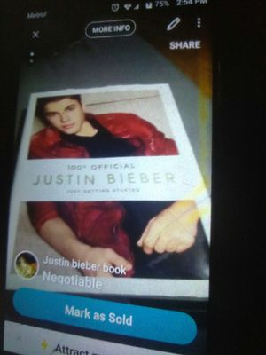 Justin Bieber book for Sale in Jersey Shore, PA
