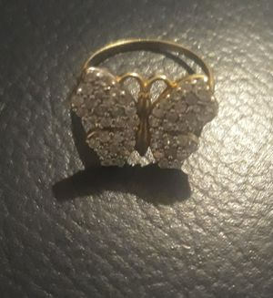 14kt yellow gold diamond butterfly ring for Sale in Adairsville, GA