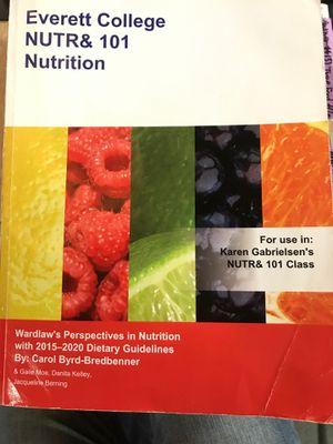 EVCC NUTR& 101 Nutrition Byrd-Bredbenner for Sale in Arlington, WA