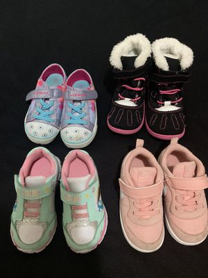 Baby girl 4 pairs of shoes for Sale in Palmetto Bay, FL