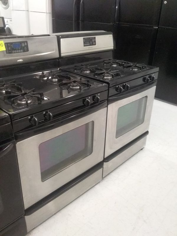 Whirlpool gas stove stainless steel used good condition 90days warranty 🔥🔥
