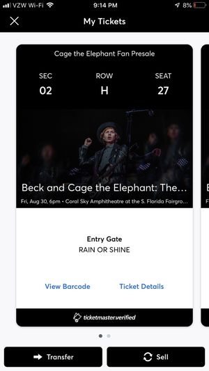 Cage the Elephant and Beck Tickets for Sale in Stuart, FL