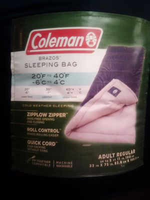 Coleman Brazos Sleeping Bag for Sale in Pittsburgh, PA