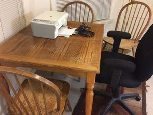 Table and 2 Wood Chairs for Sale in Seattle, WA