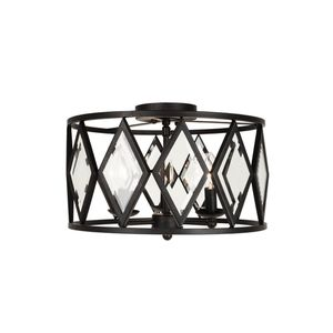 Home Decorators Collection 16 in. 3-Light Bronze Prismatic Glass Flush Mount. Brand New! for Sale in Plantation, FL